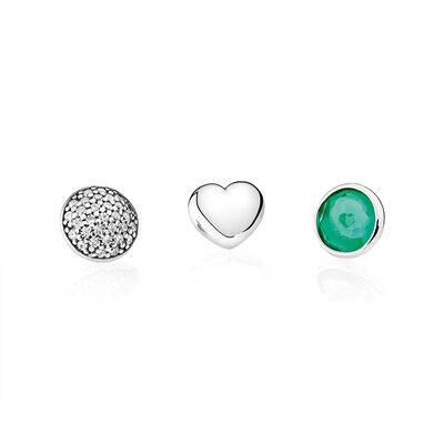 May Petites, Royal-Green & Clear CZ