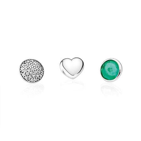 May Petites, Royal-Green & Clear CZ