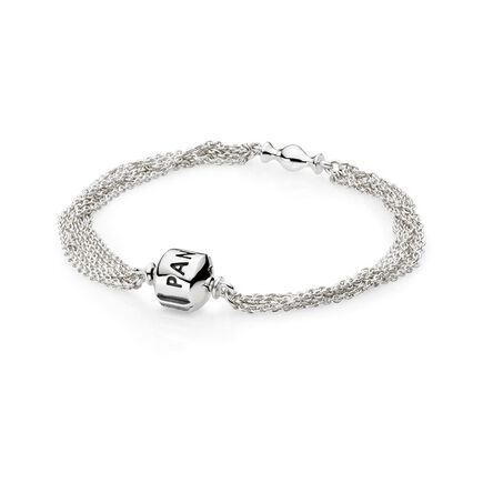 Sterling Silver, Multi-Strand, One Clip Station