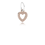 Symbol Of Love, 14K Rose Gold & Clear CZ