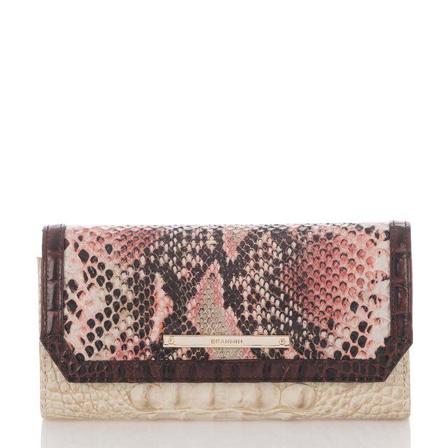 Soft Checkbook Wallet Pink Collins, Pink, hi-res
