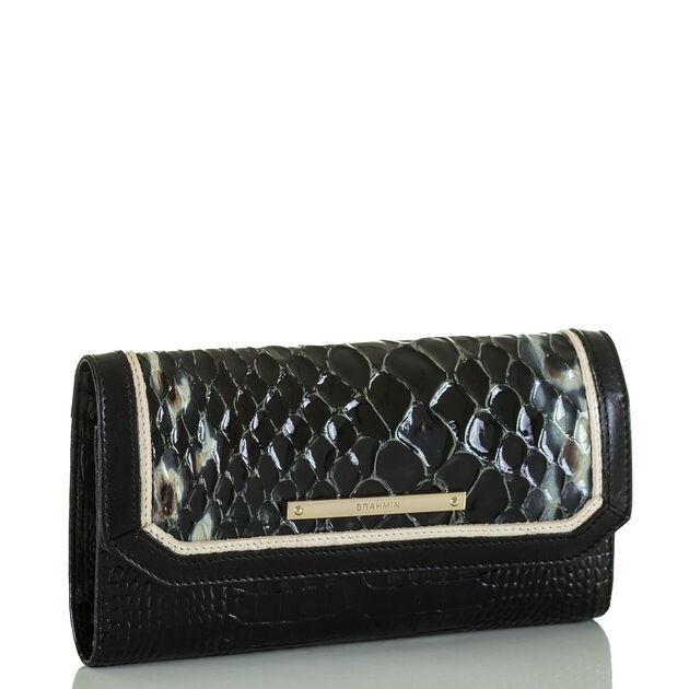 Soft Checkbook Wallet Black Carlisle