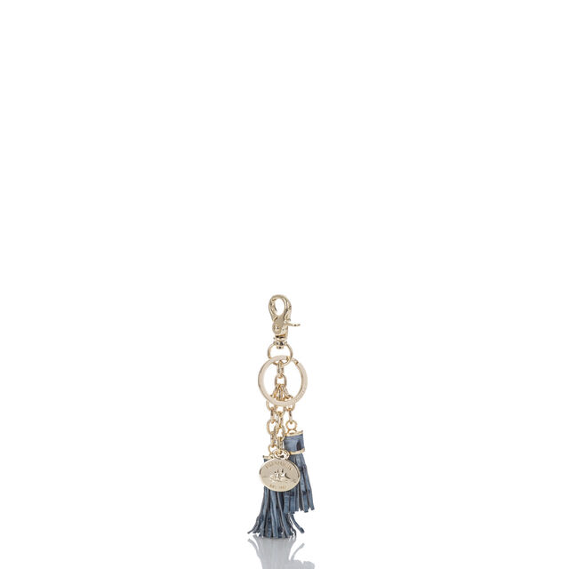 Tassel Key Ring Denim Melbourne, Denim, hi-res