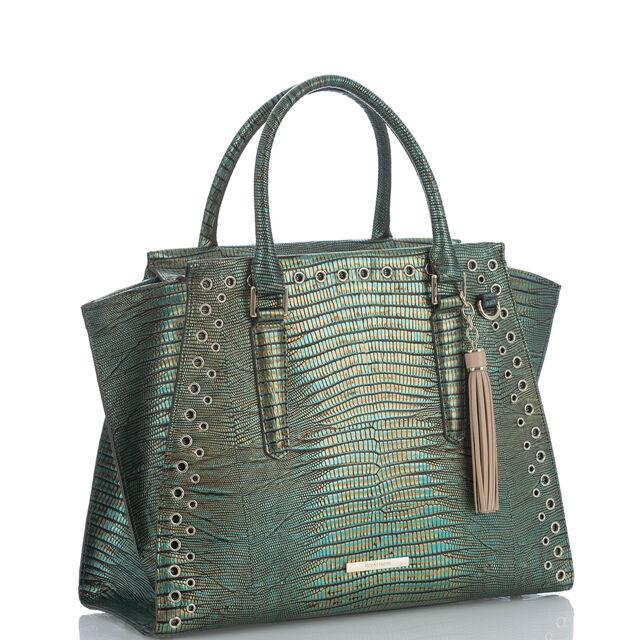 Priscilla Satchel Emerald Moa, Emerald, hi-res