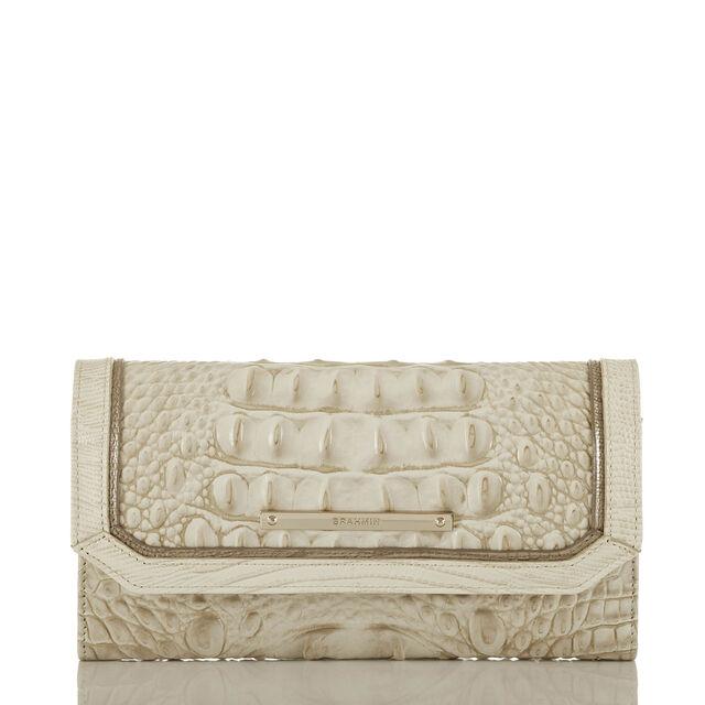 Soft Checkbook Wallet Limestone Tri-Texture, Limestone, hi-res