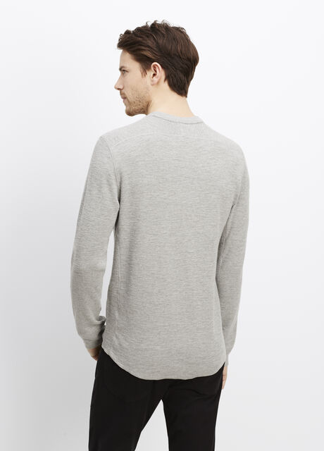 Slub Cotton Crew Neck Thermal