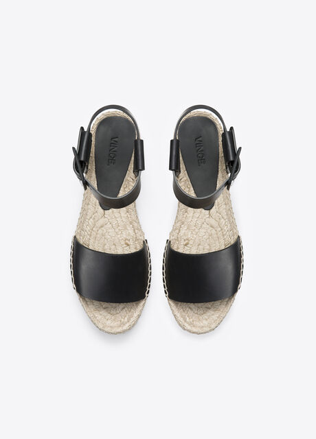 Edina Leather Espadrille Flatform Sandal