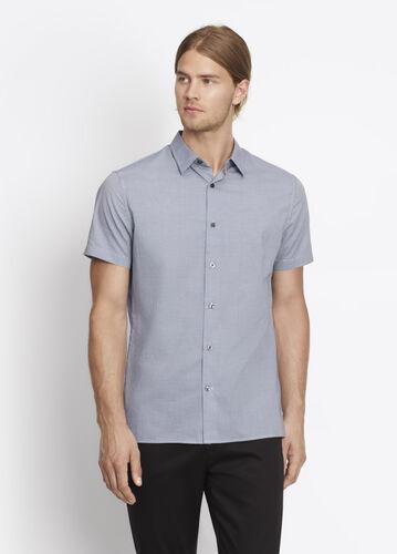 Melrose Microcheck Short Sleeve Button Up