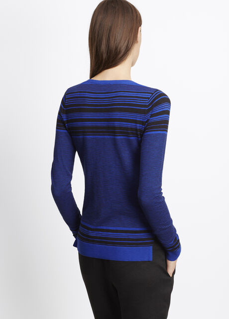 Striped Slub Cotton Sweater