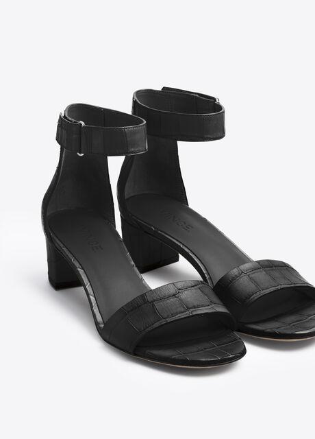 Rita Croc Printed Leather City Sandal