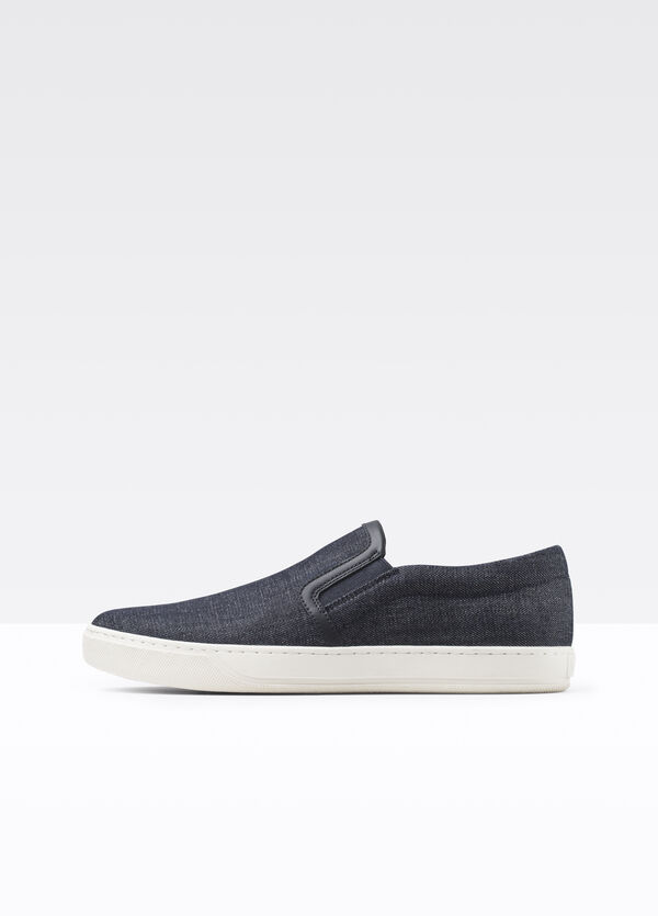 Barron Mixed Media Slip On Sneaker