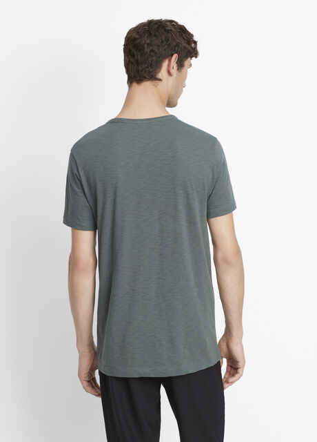Slub Cotton Short Sleeve Crew Neck Tee