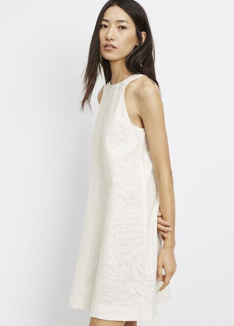 Burnout Jacquard Dress