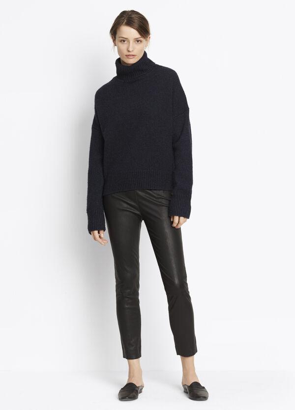 Leather Stitch Front Seam Legging