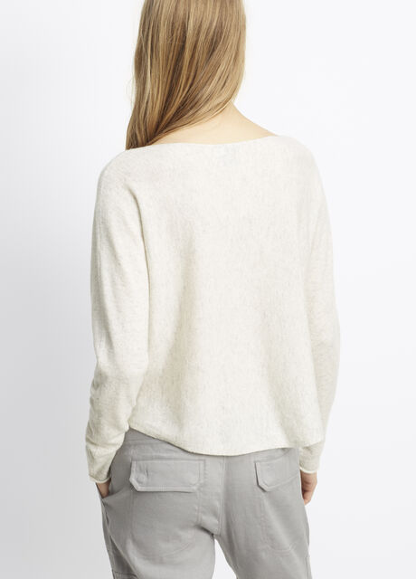 Cashmere Cropped Boatneck Sweater