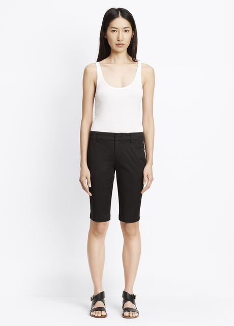 Bermuda Shorts With Side Buckles