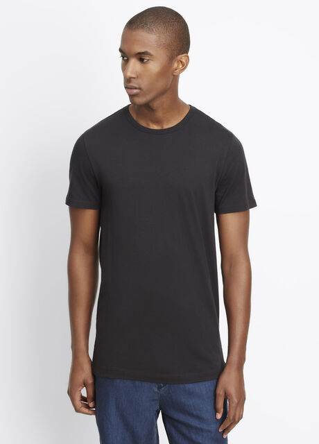 Pima Cotton Long And Lean Short Sleeve Crew Neck Tee