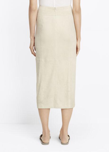 Nubuck Wrap Pencil Skirt