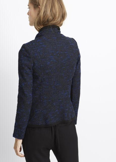 Bouclé Drape Front Jacket