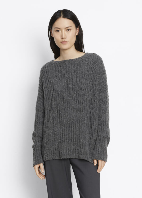 Ladder Stitch Funnel Neck