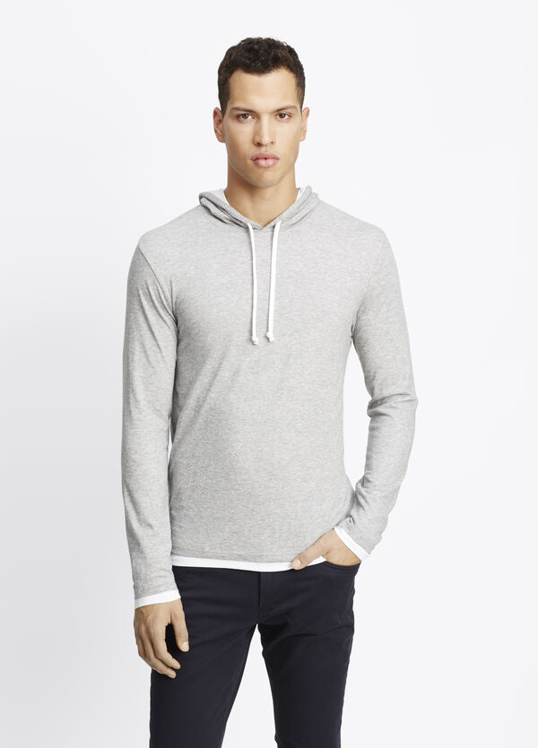 Cotton Double Layer Hoodie