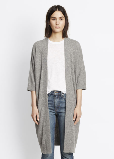 Cashmere Short Sleeve Cardigan
