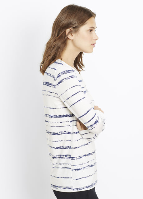 Shadow Stripe Print Long Sleeve Tee