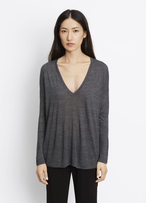 Drop Sleeve Deep Vee Tee