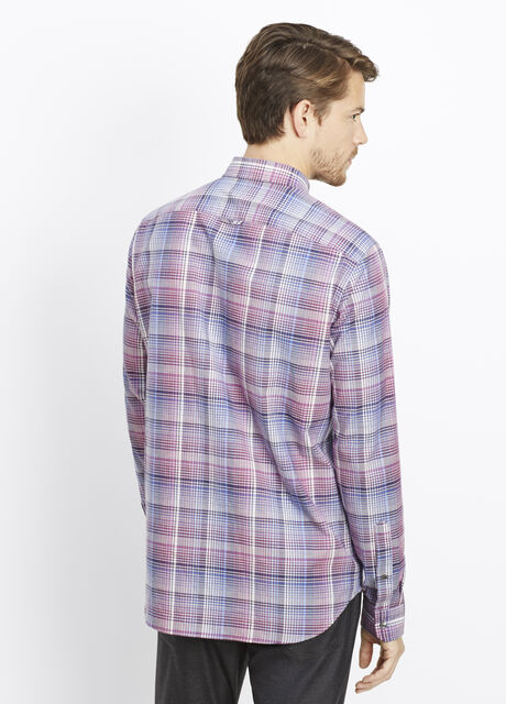 Melrose Cotton Multi-Plaid Button Up