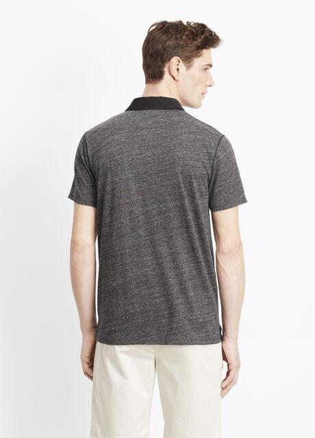 Cotton-Modal Mixed Stitch Polo
