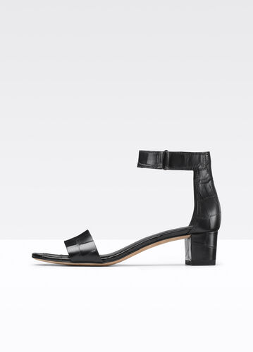 Rita Croc Printed Leather City Sandal