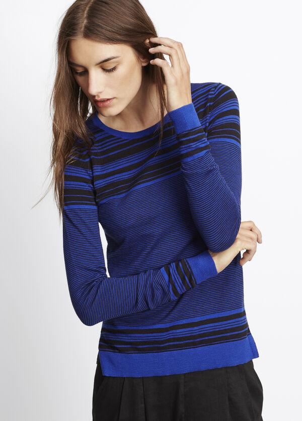 Striped Slub Cotton Sweater