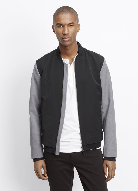 Highline Nylon Varsity Bomber Jacket