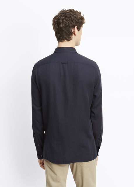 Melrose Luxe Cotton Double-Faced Button Up