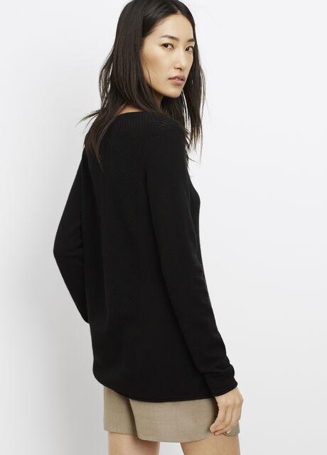 Cashmere Chevron Stitched Sweater