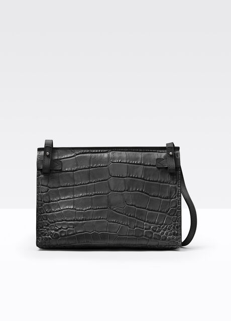 Vince Signature Collection Stamped Croc Baby Crossbody