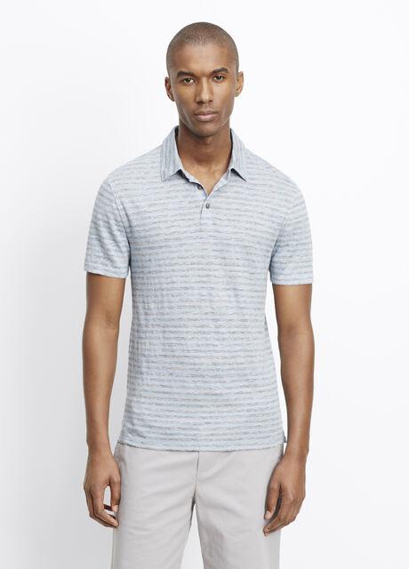 Striped Linen Polo