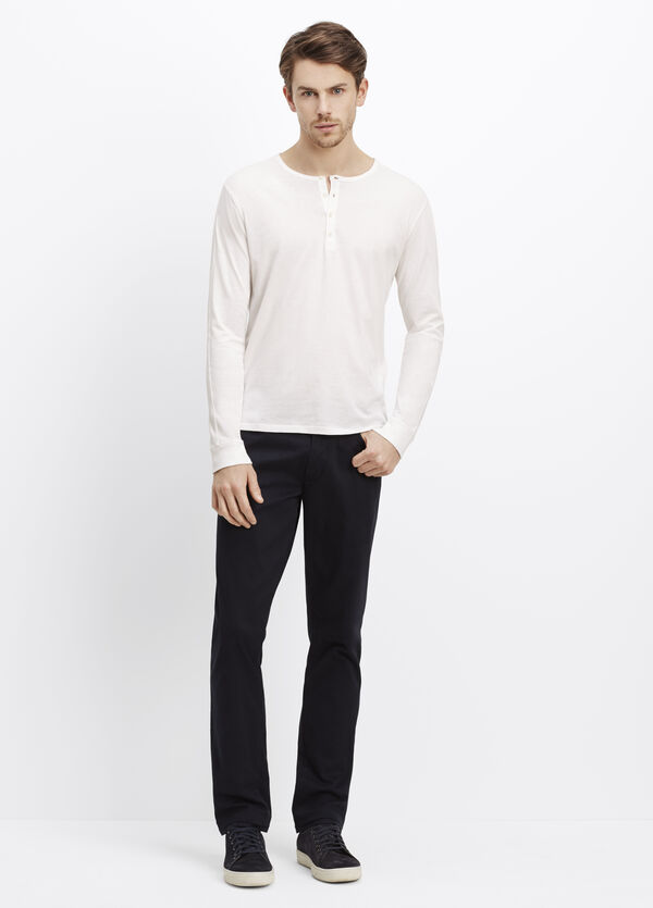 Favorite Cotton Long Sleeve Henley