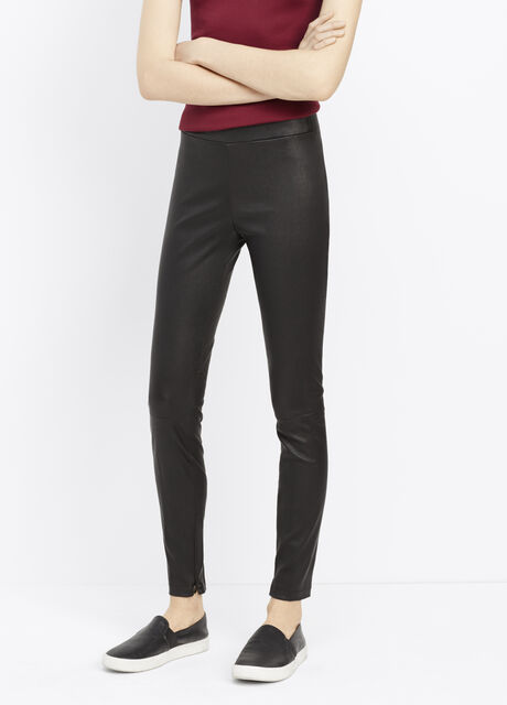 Leather Legging With Ankle Zip