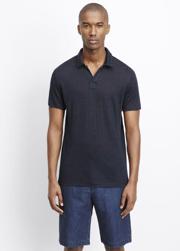 Linen Short Sleeve Polo