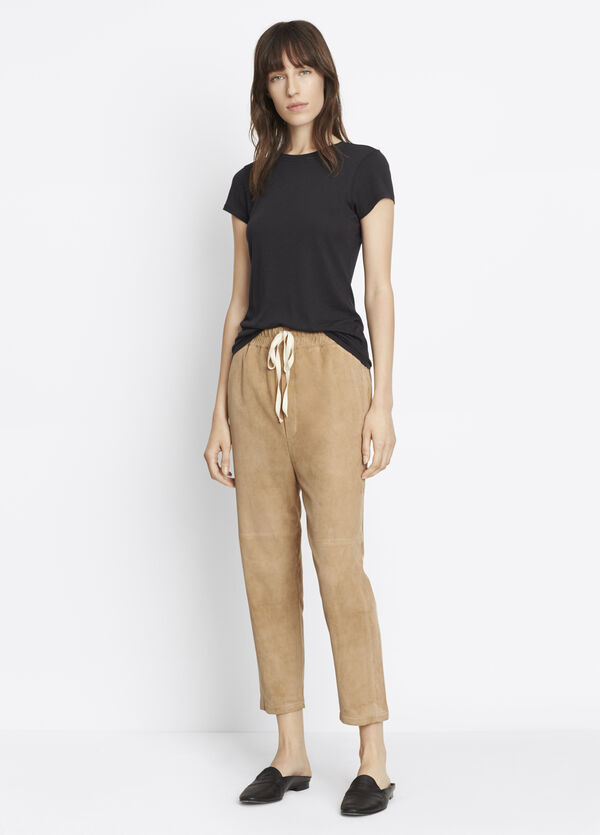 Suede Track Pant
