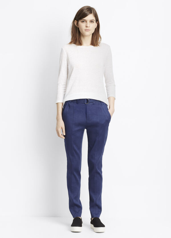 Linen Belted Trouser