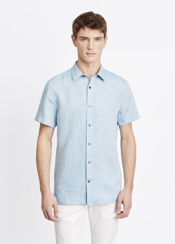 Melrose Linen Short Sleeve Button Up