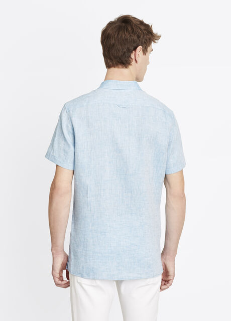 Melrose Linen Short Sleeve Button Up