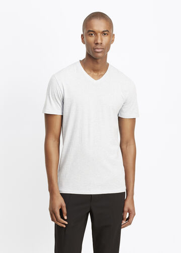 Pima Cotton V-Neck Short Sleeve Tee