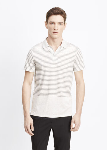 Blocked Striped Polo