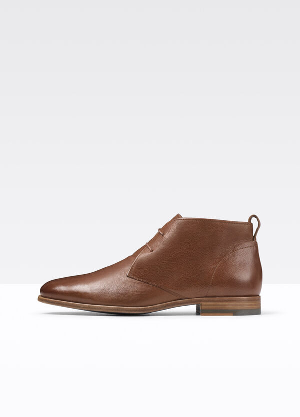 Alberto Ginger Leather Chukka Boot