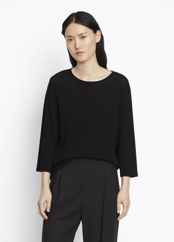 Three-Quarter Sleeve Knit