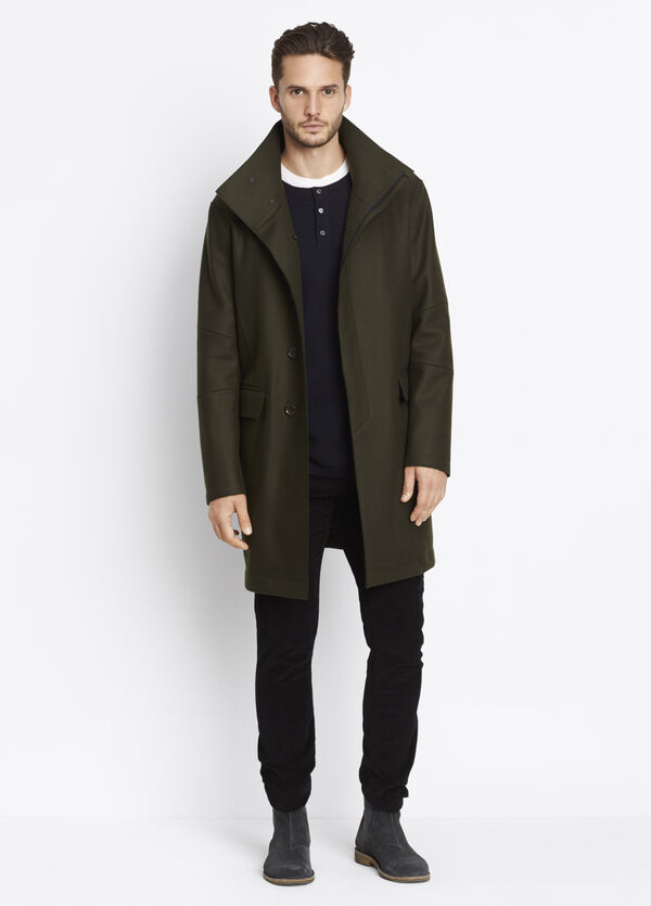 Raw Edge Military Coat