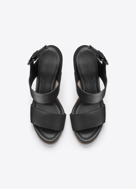 Haley Leather Platform Sandal